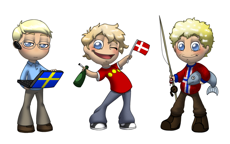 Sweden Denmark and Norway