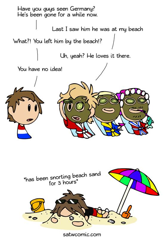 Day at the beach satwcomic.com