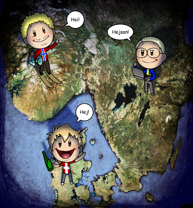 Humon's web-comic Scandinavia and the World is a must read.