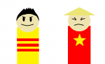 Vietnam brothers, South and North