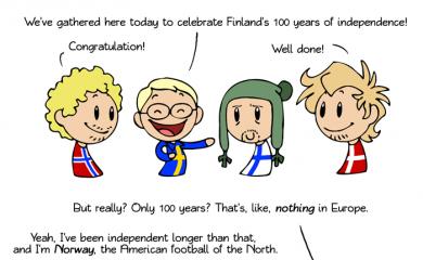 thumbnail of 100 in European years