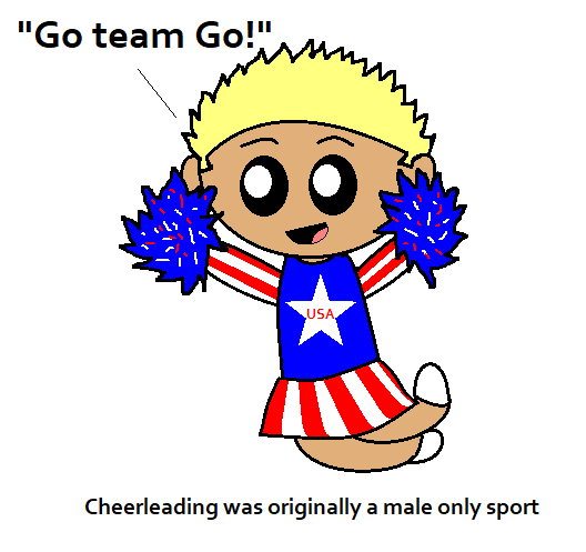 Cheerleading is Manly satwcomic.com