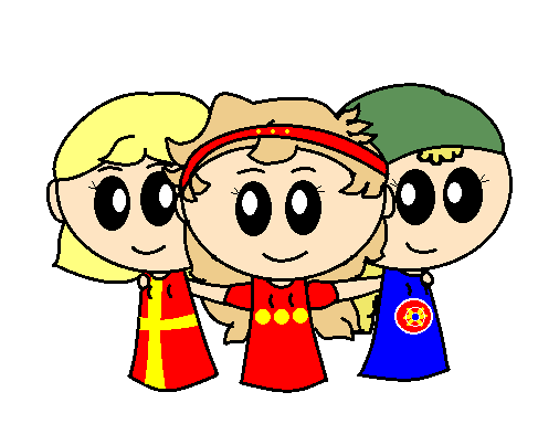 Sister FennoSwede, Sister Christiania and Sister Kven satwcomic.com