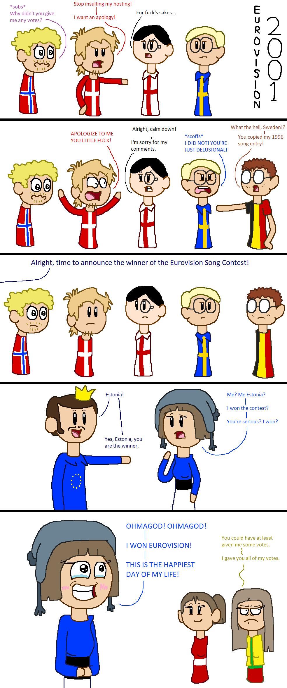 Eurovision 2001 satwcomic.com