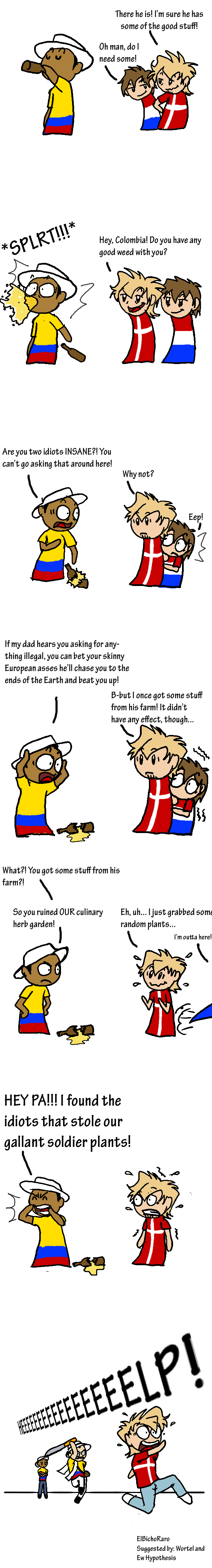 Never Ask Colombia Again For That! satwcomic.com