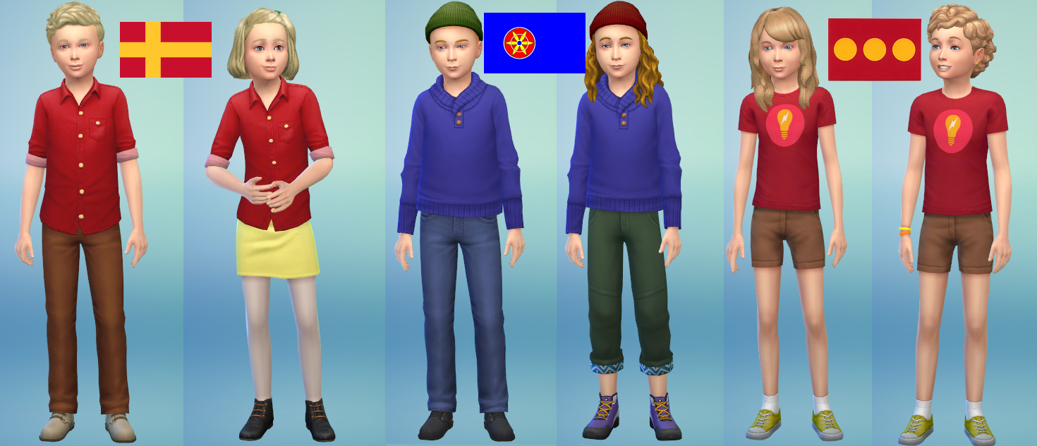 SatW Kids and their sisters in sims 4 satwcomic.com