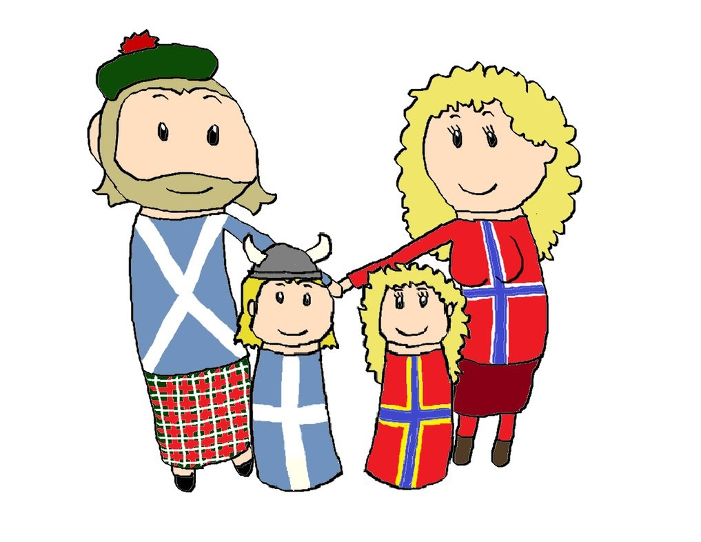 A Scottish-Norwegian family