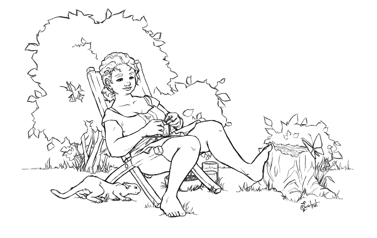 Lazy Summer Knitting satwcomic.com