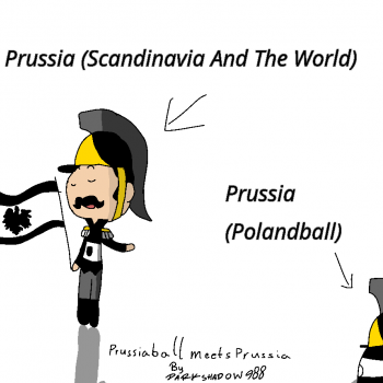 SatW Characters Meet Countryballs - №1 - Prussiaball Meets Prussia (Read Description For How I Decided To Make This)