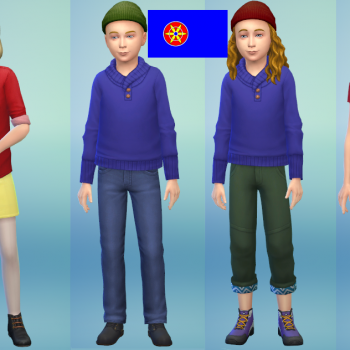 SatW Kids and their sisters in sims 4