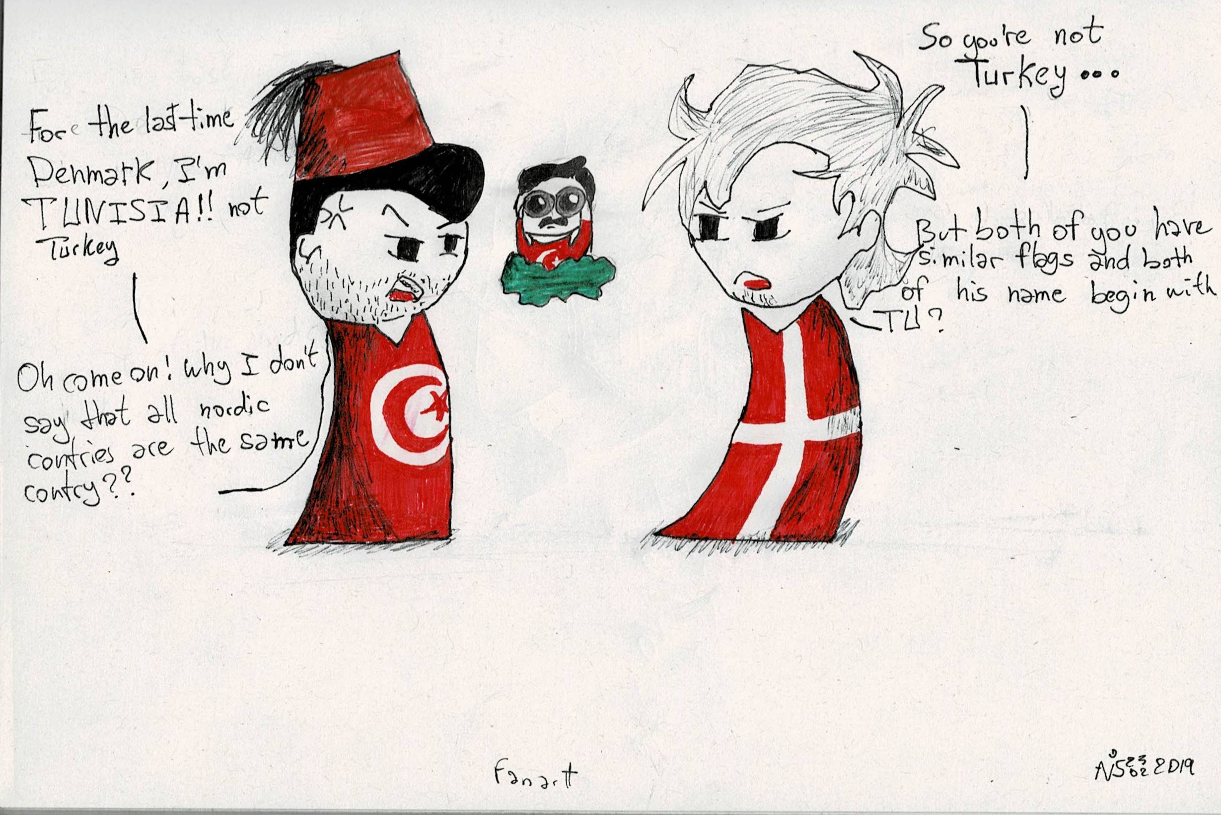 Tunisia get always mingled to Turkey satwcomic.com