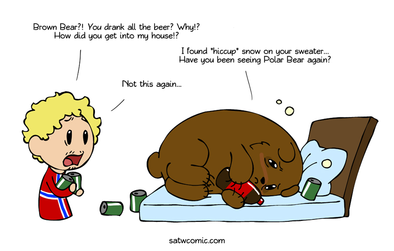 Drama Bear Returns satwcomic.com