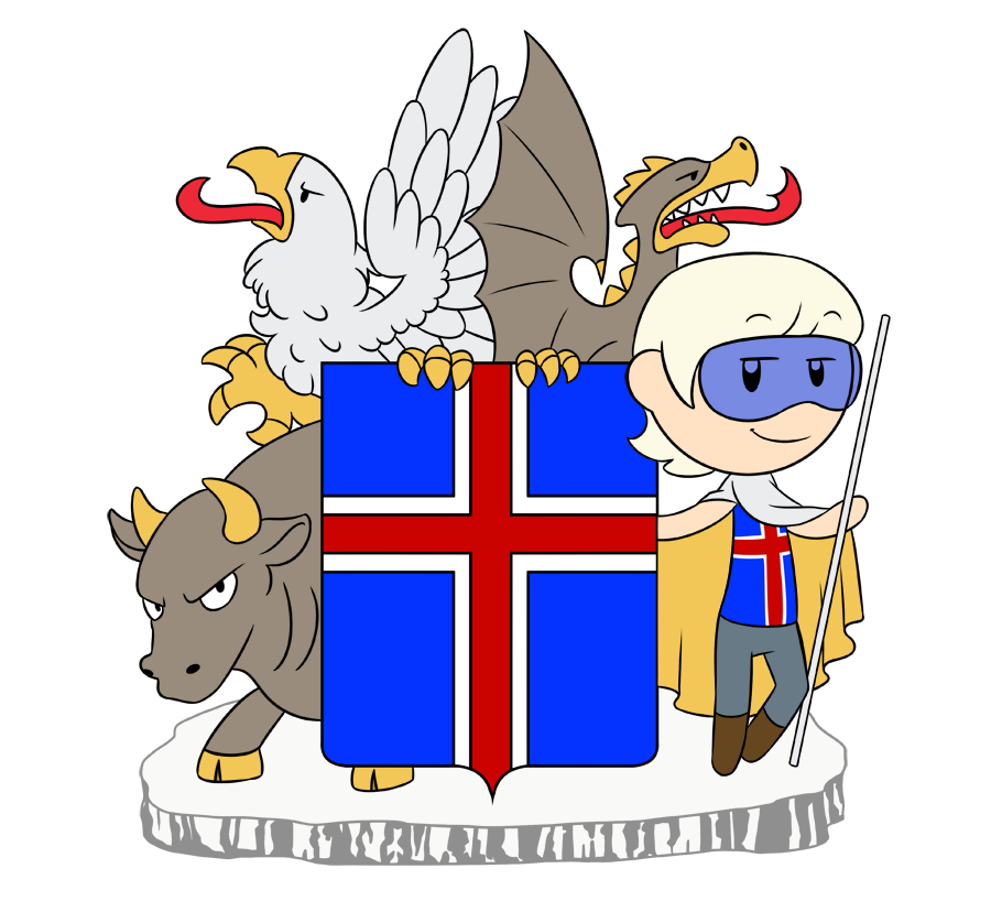 Iceland's Coat of Arms satwcomic.com