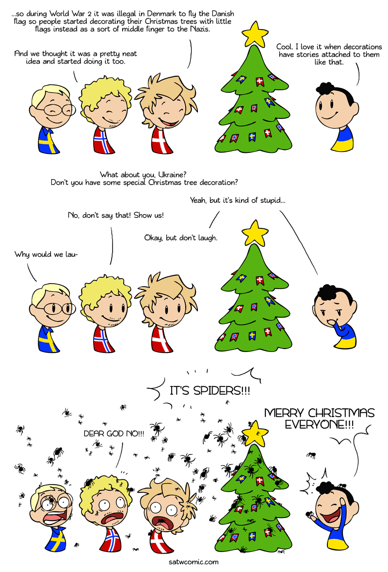 Merry Ukrainian Christmas satwcomic.com