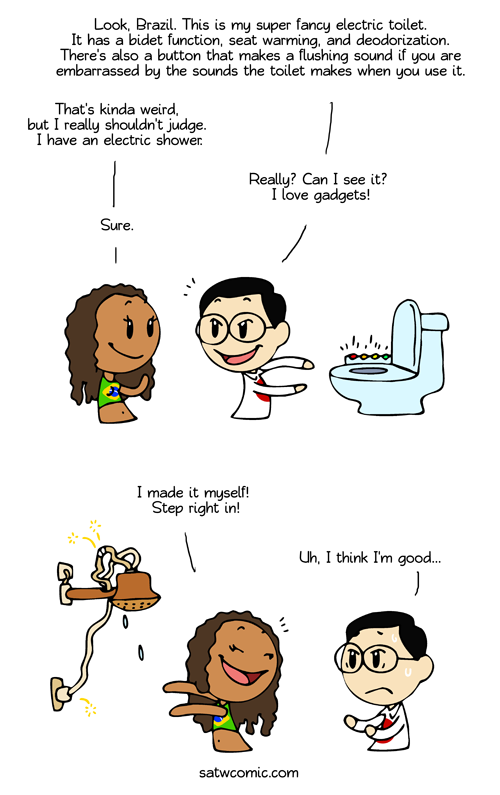 Refreshing Shower satwcomic.com