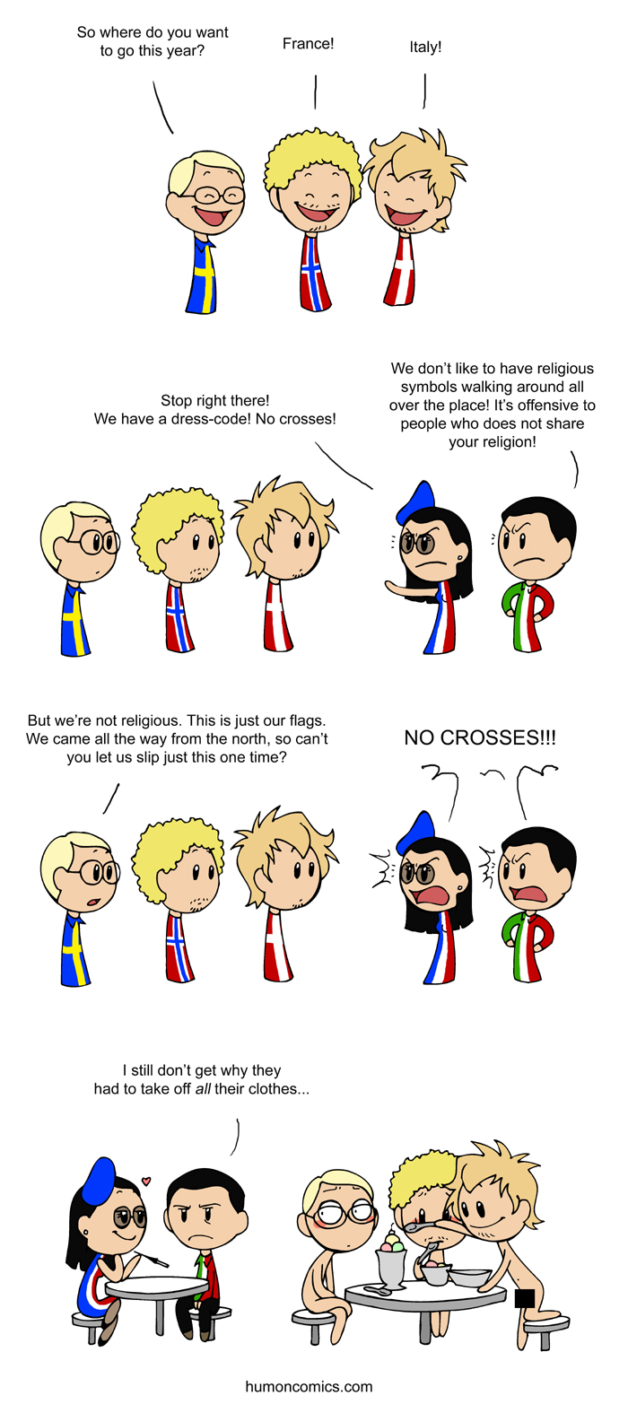 Religious Flags satwcomic.com