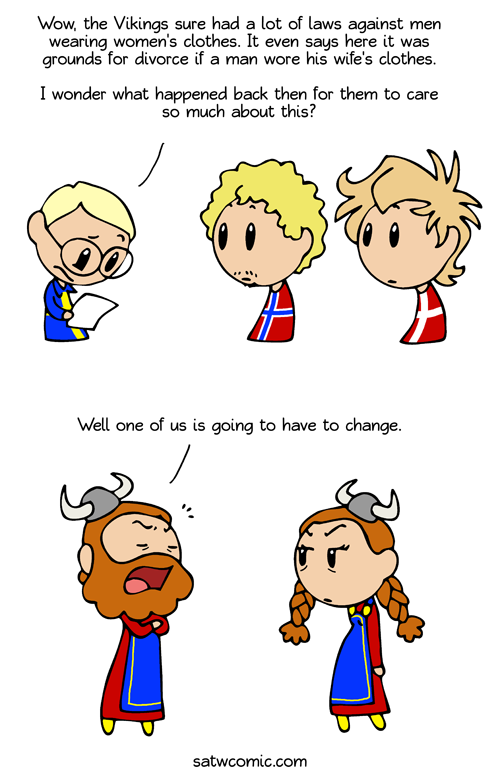 Viking Fashion Disaster satwcomic.com